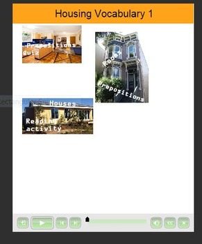 ESL resource: Housing Vocabulary 1 Mobile Device Resource