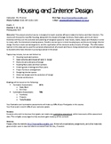 Housing and Interiors Syllabus - Trial TpT