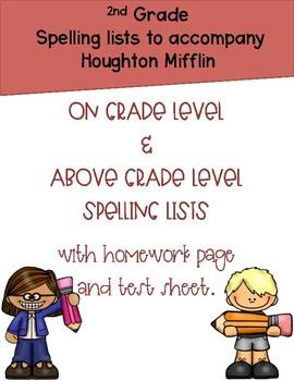 Houston Mifflin 2nd grade Spelling Themes 1-6