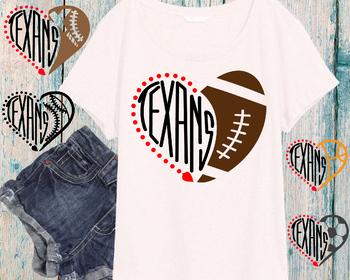 Houston Texans clipart NFL nba mlb ncaaf sports School svg Sayings heart 716s