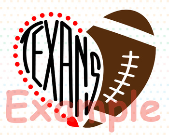 Houston Texans clipart NFL nba mlb ncaaf sports School svg Sayings heart 716s