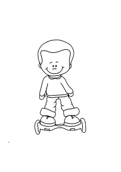 Hoverboard Kid Free Clip Art
