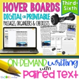 Hover Board Paired Texts: Writing On-Demand Opinion Argumentative Essay Editable