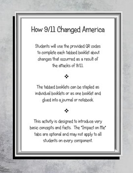 How 9/11 Changed America Interactive QR Activity