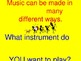 How About a Song? Let's Learn Instruments!