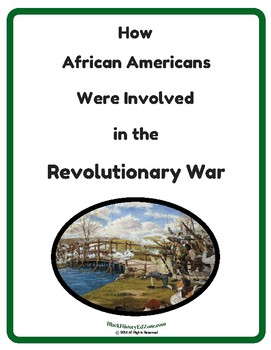 How African American Were Involved in the American Revolution