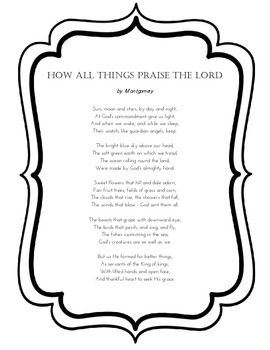 How All Things Praise the Lord, by Montgomery