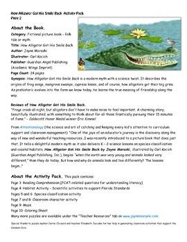 How Alligator Got His Smile Back - Teacher Activity Pack