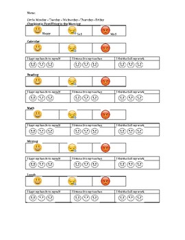 How Am I Feeling Today? Behavior Chart (EDITABLE)