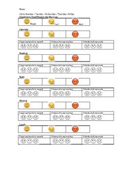 How Am I Feeling Today? EMOJI Behavior Chart (EDITABLE)