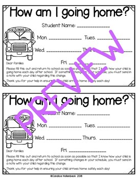 How Am I Going Home Today? Transportation Forms