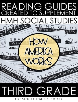How America Works alligned with HMH Social Studies Grade 3