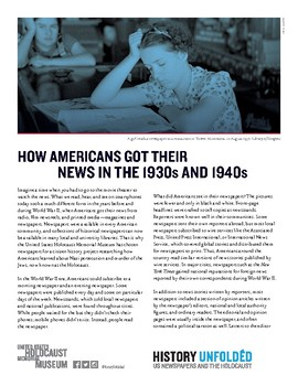 How Americans Got Their News in the 1930s and 1940s
