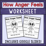 How Anger Feels - Anger Management Worksheet