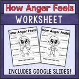 How Anger Feels - Anger Management Worksheet