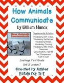How Animals Communicate Activities 1st Grade Journeys Unit 2, Lesson 7