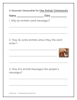 How Animals Communicate Activities 1st Grade Journeys Unit 2, Lesson 7
