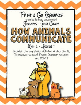 How Animals Communicate - Journeys First Grade Print and Go