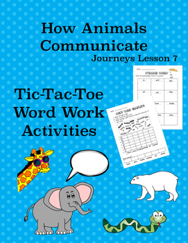 How Animals Communicate Journeys Lesson 7