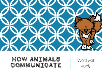 How Animals Communicate High Frequency Words