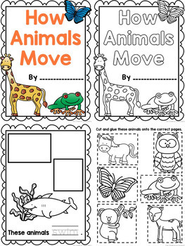 How Animals Move {Printable book, sorting worksheets, & posters}