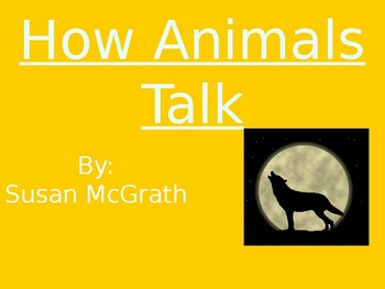 How Animals Talk - Vocabulary