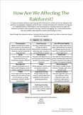 How Are We Affecting The Rainforest?