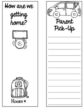 Back to School with Dismissal Cards Editable