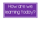 How Are We Learning Today? Visual Cards