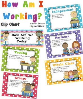 'How Are We Working Today' Clip Chart - Classroom Behaviou