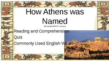 How Athens was Named - Greek Mythology