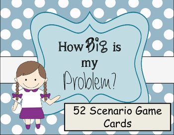 How Big Is My Problem Scenario Cards By Everybody Is A Genius Tpt