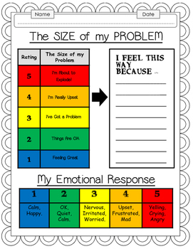 How Big Is My Problem Worksheet Bundle By Everybody Is A Genius