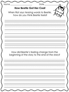 How Beetle Got Her Coat (Macmillan Treasures-Unit 6, Week 1)-Freebie