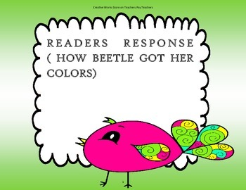 How Beetle Got Her Colors - 2nd Grade - Tri Folds + Activities