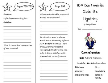 How Ben Franklin Stole the Lightning Trifold - Treasures 4