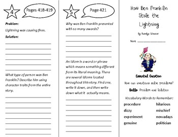 How Ben Franklin Stole the Lightning Trifold - Wonders 4th