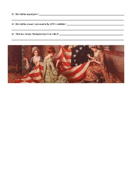 How Betsy Ross Worked Internet Assignment U.S. History