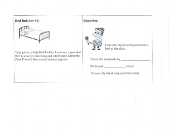 """""""How Big Is A Foot?"""" Cooperative Learning Task Cards"""