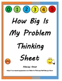 How Big Is My Problem Thinking Sheet