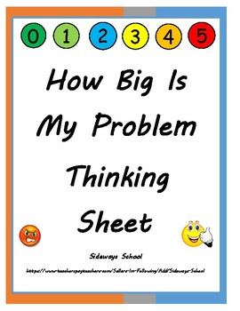 picture regarding How Big is My Problem Printable called How Large Is My Challenge Asking yourself Sheet