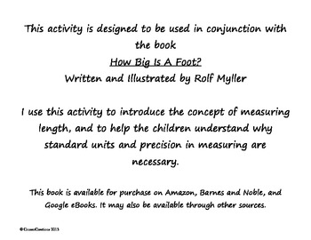 How Big Is a Foot? Measuring Activity; Common Core Applicable