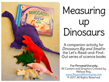 How Big Were Dinosaurs? Compare dinosaur size craftivity