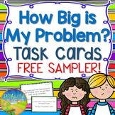 How Big is My Problem Task Cards Free Sampler