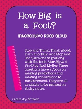 How Big is a Foot? Interactive Read Aloud