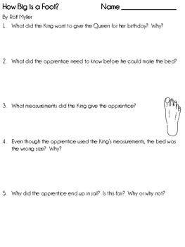 How Big is a Foot?, by R. Myller, Natural Measures ~ the Foot