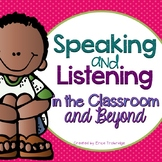 Active Listening {Tools to Develop Speaking & Listening Skills}