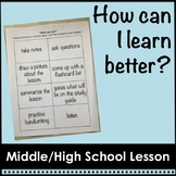 How Can I Learn Better?  Middle School and High School Lesson