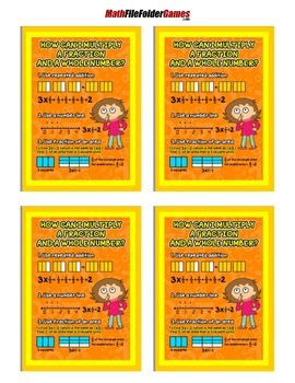 How Can I Multiply a Fraction = Poster/Anchor Chart with Cards for Students