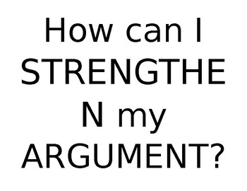 How Can I strengthen my Argument?